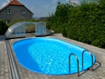 Poolbecken oval 1.2 m tief